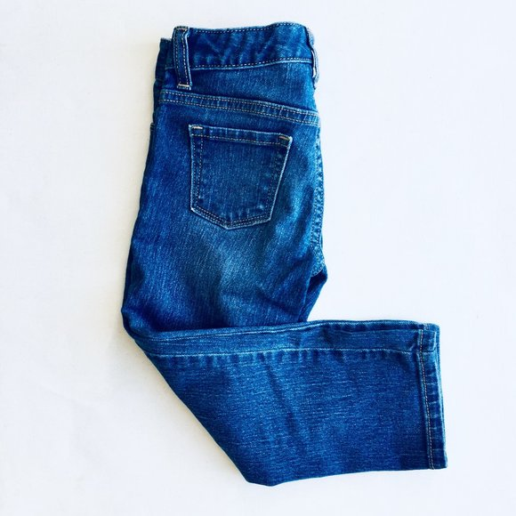 Old Navy Straight Leg Cropped Skinny Jeans